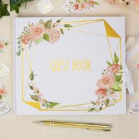 Geo Floral Guest Book